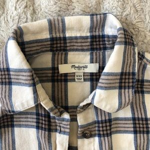 Madewell plaid button top, XXS.